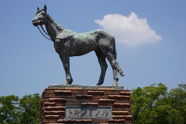トキノミノルの銅像の写真